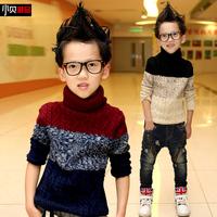 Children's wear winter 2014 new tide children with thick sweater boy turtleneck