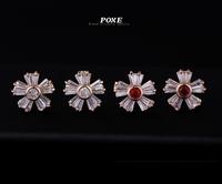 ZSE006  Wholesale 2014 New Innovative item AAA Cubic Zirconia Flowers Stud Earrings Women Fashion Jewelry  bijoux Christmas POXE