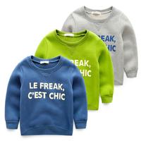 Children's clothing 2014 autumn and winter plus velvet thickening male child pullover child top baby sweatshirt fleece