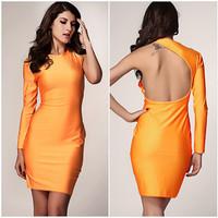 2014 Pinup Elegant High elasticity Tunic Dress Knee-Length ColorOrange Shift Bodycon Casual Pencil Dress desigual vestidos