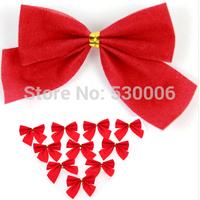 40pcs/Lot Christmas Tree Decorations Bowknot Pendant Merry Supplies New Year Ornaments Santa Claus Navidad