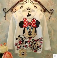 RQQ  children's clothing wholesale girl lovely Mickey sanding T-shirt F3161 0.88 Christmas