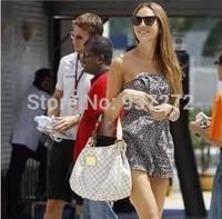 Luxury women's bags Louis Handbag sale Brown White Women Elegant Galliera 42cm Lady'S Bag purse With Free shipping Wholesale
