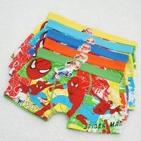 Free shipping 6pcs/lot baby boy cotton underwear kids cartoon panties spider-man boys boxer briefs children fashion underpants