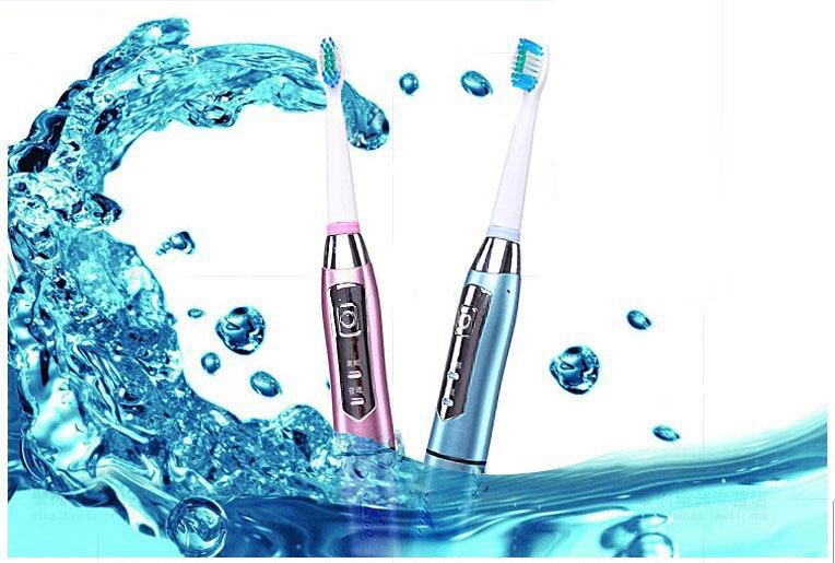 Nova Seago Professional Care elétrica massagem escova de dentes SG-610 ultra-sónico Rotary escova de dentes elétrica x3 cabeças(China (Mainland))