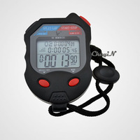 3 Rows Large LCD Digital Stopwatch Professional Sports Chronograph Racing Odometer Count up Timer 1/100sec Stop Watch 0.3-MB001H