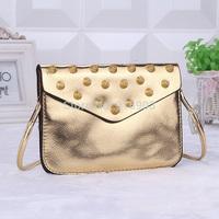 2014 Night Club Women's Messenger Shoulder Bags,Min Evening Purse With Rivet,Brand New Rock Cross Body Party  Handbags,SJ094