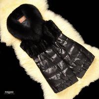 Spot 2014 new vest ladies imitation leather imported sheep skin mink fur fox fur imitation fur vest
