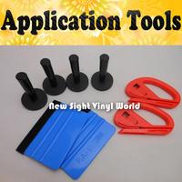 4PCS Magnet Holder 2PCS 3M Felt Squeegee 2PCS Vinyl Cutter Car Vinyl Application Tool For Car Wrapping