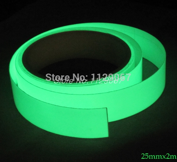 Luminous Tape High Energy Photoluminescent Glow In The DarkTape For Stage Home Decoration 25mmx2m(China (Mainland))