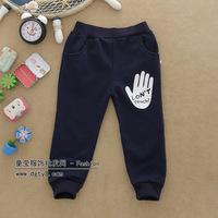 New 2014 Noverty 100% Cotton Letter Print Frozen Baby Kids Casual Pants Elastic Waist Boys Loose Trousers Frozen Legging