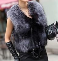 free shipping The 2014 code fur plush vest vest short paragraph ladies vest fur vest