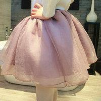 Fashion Womens Princess Fairy Style Adult Tulle skirt Bouffant Mini Tutu Skirt 6 Colors Ball Gown Skirt