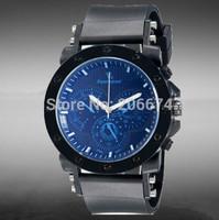 New V6 Super Speed Men's Stylish Stunning 3-Dial Analog Wrist Watch  men luxury brand military Quartz watch free shipping