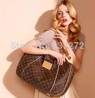 Wholesale Luxury bags Louis Handbag sale Brown White Women Elegant Galliera 42cm Lady'S Bag purse With Free shipping