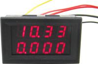"""10pcs/lot dual 0.28 """"  red led 2in1 0-33.00V/0-3.000A digital voltmeter ammeter volt amp panel meter voltage Ampere gauge"""