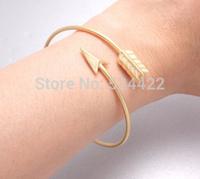 Min 1pc Gold and silver Adjustable Arrow Bangle Bracelets SZ016