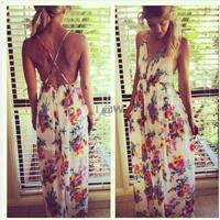 2014 summer new women's dress fashion V-neck print dress sling back Pierced sexy lady chiffon dress bohemian beach vestidos