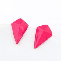 Min.order $10 Korean Fashion accessories luxury sweet Metallic fluorescent color rhinestone Earrings For Women Jewelry   MD1206