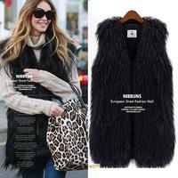free shipping A large number of spot imitation fur vest jacket plush fur imitation wool vest vest waistcoat
