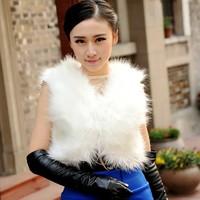free shipping new winter Korean imitation fox fur vest vest short paragraph a short paragraph all-match female vest