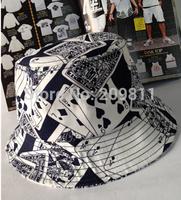 poker print  Bucket Hat for men women casual hip hop fishing sun hats