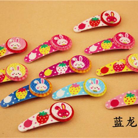 Stylish 4pcs/lot Kids/Girl/Princess/Baby Spot Printing Ribbon Bow Flower Hair Clip Barrettes for kids hair pin(China (Mainland))
