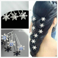 Hot Sale Frozen Snow Queen Elsa snowflakes headdress hairpin Cosplay Anime Party Wedding Bridal Hair pins