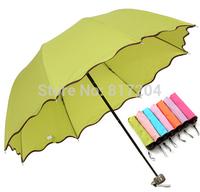 Fashion Magic Carom cloth Arched umbrella Encountered Water Flowering Sun umbrella Creative Folding Free shipping ys013