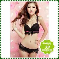 Lace side gathering push up sexy young girl underwear bra set tvq6ix