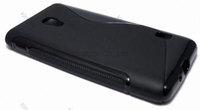 200pcs/Lot TPU S  Line GEL Case Cover for LG OPTIMUS F6 D500 D505