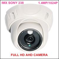 "CCTV HD AHD CAMERA Color 1/3 "" Sony IMX 238 CMOS Sensor 1.4MP 1000TVL Security Cameras with IR-CUT Free Shipping AS-AHD2201S"