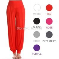 women bloomers pants Boho Wide Loose Long Female 95% Modal Solid Harem trousers Sports High Elastic Waist Dancing yoga clothing