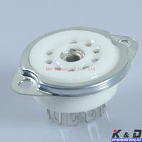 10pcs ceramic 9pin CHASSIS MOUNT vacuum tube sockets FOR 12AX7/12AT7/12AU7 GZC9-F