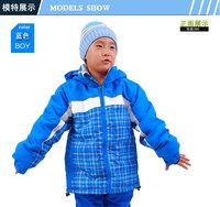 Boys & girls rofessional Ski Suit child ski jacket thermal cotton-padded jacket outdoor windproof wadded jacket free shipping