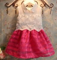 Summer Dress Lace Casual Dress Vestidos De Menina Organza Pierced Girls Dress Kids Clothes Meninas Vestir Girls Clothes WB-25