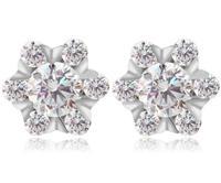 925 sterling silver earrings for women gift for wife gift chrismasdesigner jewerly women 2014 crystal bib earrings M212