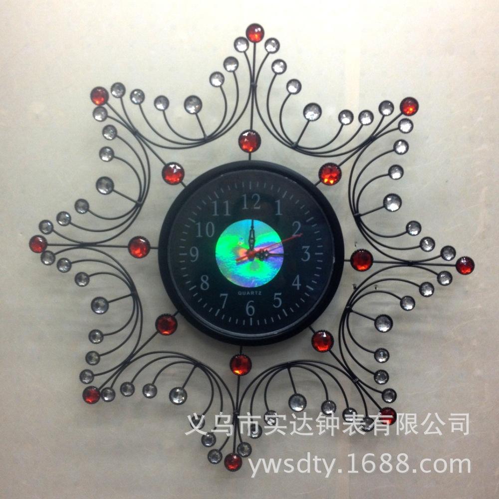 Wall Clock Shida SD11071-1 Tianyuan Jing tone diamond fashion home living personality of Modern Art Bell creative(China (Mainland))