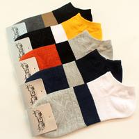 5 pairs of socks, cotton socks male cotton spring and summer cotton socks G word folk style low waist socks wholesale