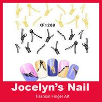 1 Sheets 3D Design cute DIY watermark zipper Tip Nail Art Nail Sticker Nails Decal Manicure nail tools