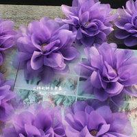 Purple Chiffon Material 3D stereoscopic handmade diy handmade cloth flowers, wedding bouquet flower headdress hair flower