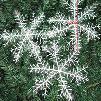 Eloong Christmas Gift 100pcs/lot 22x22cm White Snowflake Christmas Ornament Decoration H001