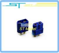 1 pairs Xt60 male and female for 1set blue anti-slip T- plug