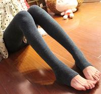 2014 winter new female camel hair thin section Korean Slim Leggings step foot leggings girl gift