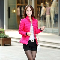 lady's winter new double zipper cotton-padded clothes cultivate one's morality down cotton-padded jacket coat