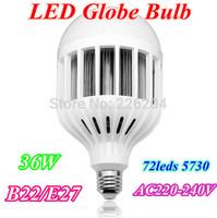 Led Bubble Ball Bulb 36W E27 B22 led Globe light LED Light Bulbs Lamp Lighting 72leds 5730 AC220-240V warm white/white