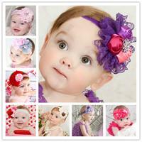 New Baby Kids Toddler Lace Flower Elastic Headband Hairband Headdress Headwear
