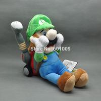 "Free Shipping Super Mario Bros 7"" Luigi's Mansion 2 /w Vacuum Cleaner Plush Doll Toy"