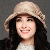 Fashion 2015 women princess fedoras hot sale elegant windproof cotton hat wide brim high quality caps for women free shipping