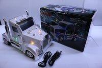 10pcs/lot LED Truck Car Shape Speaker Mini Audo MP3 Music Player with Screen FM Radio Nice Gift for Children Kids